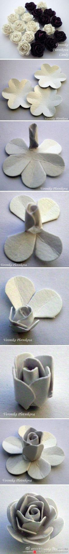 How to make a rose using 6-petal flower.