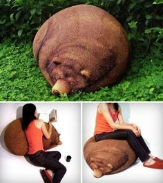 Check out these 25 outrageous bean bag chairs. Not only are they comfortable, but they also boast of fun and unique bean bag designs. Weird Pictures, Cool Lighting, Interior Design Kitchen, Bean Bag Chair, Best Gifts, Beans, Teddy Bear, Cool Stuff, Random Stuff