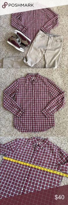 Denim & Supply Ralph Lauren Red Plaid Longsleeve Men's shirt in very good condition, all measurements can be seen in the photos above. Denim & Supply Ralph Lauren Shirts Casual Button Down Shirts