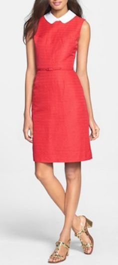 Pretty red sheath dress http://rstyle.me/n/mqbi9nyg6