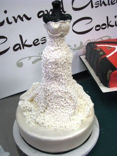 Wedding dress cake by Kim and Ashlee's Cakes & Cookies, via Flickr