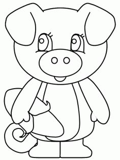 Pig5 Animals Coloring Pages