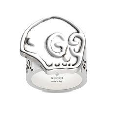 c9f829f582c GucciGhost silver skull ring Silver Skull Ring