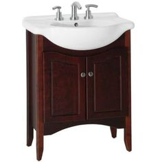 Find, Shop for and Buy Strasser Woodenworks 61.701 Furniture Style Azzurra EuroLav Vanity at QualityBath.com for $539.60 with free shipping!