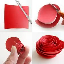 St. Jane Frances DeChantal: Love of Neighbor - Paper rose craft. Easy and fast