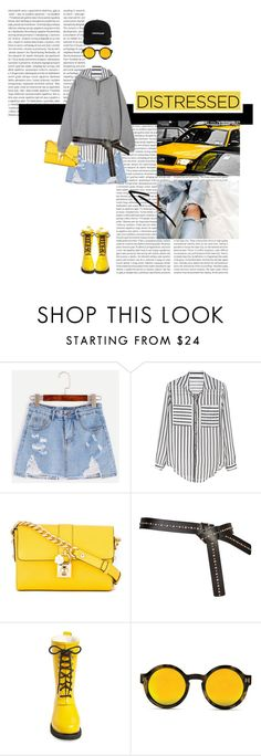 """""""DISTRESSED"""" by loveyourselves ❤ liked on Polyvore featuring Oris, TAXI, WithChic, Dolce&Gabbana and Ilse Jacobsen Hornbaek"""