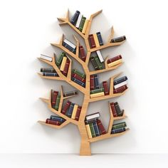 Awesome And Genius Tree Bookshelf Design And Styling Ideas