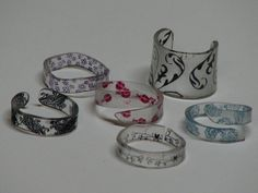 shrinky dink charms and rings made from deli containers