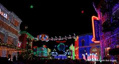 Disney Holiday lights at Hollywood Studios