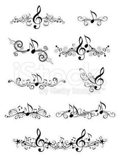 Ornate music elements and page decorations for your design i.- Ornate music elements and page decorations for your design isolated… Musik-design Lizenzfreies vektor illustration - Music Tattoo Designs, Music Tattoos, Body Art Tattoos, Tatoos, Music Designs, Faith Tattoos, Small Tattoos, Word Tattoos, Temporary Tattoos