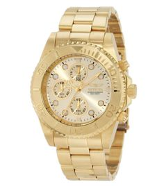 List Price: $695.00 Price: $79.99 You Save: $615.01 (88%) Invicta 1774 Men's Pro Diver Gold Tone Stainless Steel Chronograph Dive Watch
