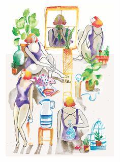 Illustration, Watercolour, Creativity, Artists, Blue Prints, Illustrations