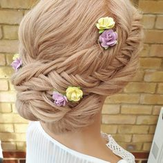 Two strand braided style Perfect style for bride or bridesmaids in a outside location Wedding Hairdressers, Braided Chignon, Civil Ceremony, Bride Hairstyles, Braid Styles, On Your Wedding Day, Bridal Hair, Bridesmaids, Braids