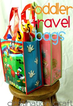 Toddler Travel Bags. Would have been nice for the Florida drive! I even have the same Mickey mouse bag lol