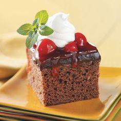 Light Black Forest Dessert. 186 calories per serving w/ 1 TBSP whipped topping