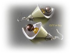 Items similar to Recycled nespresso capsules earrings / upcycled handmade jewelry on Etsy Recycled Jewelry, Metal Jewelry, Handmade Jewelry, Unique Jewelry, Jewlery, Coffee Pods, Bijoux Diy, Starbucks Coffee, Upcycle