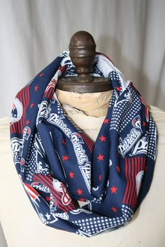NFL New England Patriots Infinity Scarf by GameDayBella on Etsy