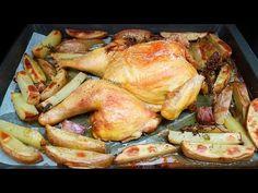 POLLO al HORNO con patatas. Muy fácil y más jugoso que nunca Mj, Turkey, Make It Yourself, Youtube, Food, Easy Cooking, Cook, Turkey Country, Essen