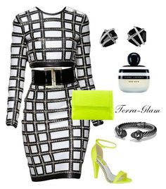 """""""Expensive Taste"""" by terra-glam ❤ liked on Polyvore featuring Balmain, Miss KG, Nancy Gonzalez, David Yurman and Marc Jacobs"""