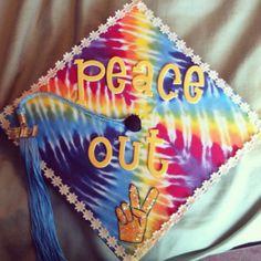 Tie Dye Graduation cap. Peace out, hippies.