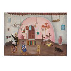 Everything But The House, Online Estate Sales, Home Decor Sale, Art Oil, Folk Art, Burlap, Art Pieces, Images, Greek