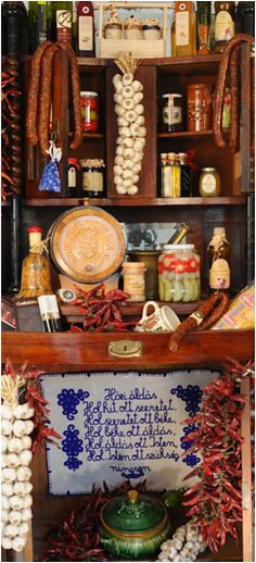 "Almárium Bisztró, Budapest - ""A polgárság féltve őrzött élelmiszerkincseinek… Hungarian Cuisine, Hungarian Recipes, Hungarian Food, Jar Of Jam, In A Little While, My Roots, Budapest Hungary, My Heritage, Eastern Europe"