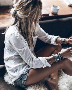 Summer Outfits – Summer Fashion Tips Boho Summer Outfits, Spring Summer Fashion, Bohemian Mode, Boho Chic, Mode Outfits, Fashion Outfits, Womens Fashion, Look Fashion, Korean Fashion