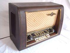 """Loewe Opta Luna 557W (1954) """"Antique radio"""", """"Tube radio"""""""