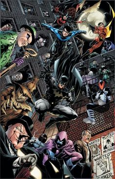Batman & The Bat Family *if your looking for Mr Freeze,Poison ivy or the Joker, they appear on the posters in the bottom right hand side