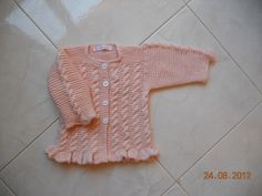 Cable Pink Cardigan