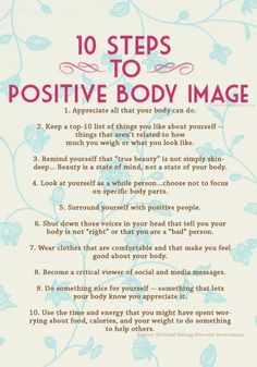 Motivation Take Note, Ladies: 10 Steps to a Positive Body Image :-) 10 Week Workout Plan: good exercise combo if you dont know where to star. Health And Beauty, Health And Wellness, Health Tips, Health Fitness, Mental Health, Health Club, Body Fitness, Fitness Diet, Healthy Mind