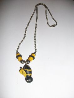 Bumble Bee Necklace MM254 by 5DollarMaddness on Etsy, $3.00