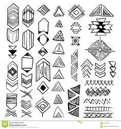Hand Drawn Doodle Vector Native American Symbols Set - Download From Over 40 Million High Quality Stock Photos, Images, Vectors. Sign up for FREE today. Image: 57727253