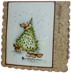 LOTV - Red Squirrels Christmas Tree with Country Lady papers by Annette Connelly Christmas Animals, Christmas Cards, Christmas Trees, Xmas, Red Squirrel, Lily Of The Valley, Squirrels, Card Making, Diy Crafts