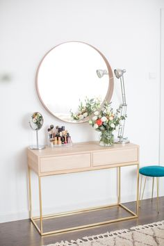 Build A Dressing Table, Dressing Table Design, Room Design Bedroom, Bedroom Decor, Cozy Home Office, Build A Closet, Fashion Room, Cozy House, My Room