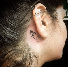 Behind-the-ear tattoo by Nao