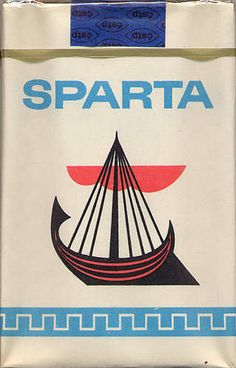 Sparta cigarettes from the Special edition packaging for Interhotel from Czech Republic. Nova Era, Retro 1, Cigarette Case, Memphis, Czech Republic, Bratislava, Socialism, Style, Greece