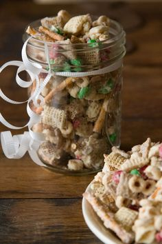 Christmas Crack from What's Gaby Cooking - looks great & easy!  This could be a great way to use a whole box of Shreddies that's sitting in my cupboard:)