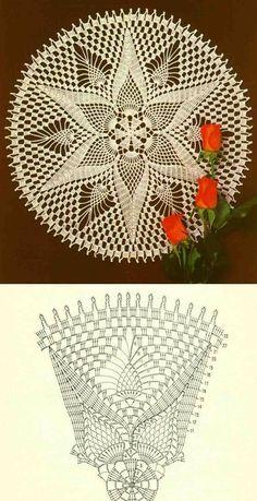Home Decor Crochet Patterns Part 155 - Beautiful Crochet Patterns and Knitting Patterns Free Crochet Doily Patterns, Crochet Doily Diagram, Crochet Chart, Thread Crochet, Crochet Motif, Irish Crochet, Crochet Designs, Crochet Lace, Crochet Hooks