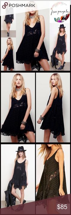 """❗️1-HOUR SALE❗️FREE PEOPLE SLIP DRESS Boho 💟NEW WITH TAGS💟   Gorgeous! FREE PEOPLE SLIP DRESS Boho Crochet Lace Mini   * Scoop neck front   * Tank straps   * Semi-sheer lace contrast   * Fit-and-flare & A-line style   * Approx 34-37"""" long   * Relaxed & oversized fit   Material: Rayon, nylon  Color: Black Item#:   Search words# semi pleated embellished shift  sheath vintage feel  🚫No Trades🚫 ✅ Offers Considered*✅  *Please use the blue 'offer' button to submit an offer. Free People Dresses…"""