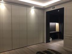 Kleur Corridor Appartement : Corridor contrasts wooden floor appartement renovation in monte