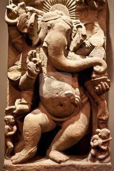 Dancing Ganesha stock photo
