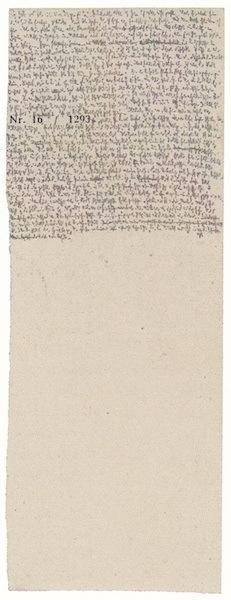 Robert Walser Microscript 50
