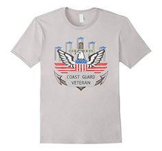 Amazon.com  Men s COAST GUARD VETERAN EAGLE LOGO DISTRESSED T-SHIRT USCG 3XL  Silver  Clothing 4a724ea59