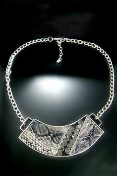 Diamante Snake Pattern Necklace