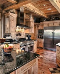 Log Cabin Kitchen By Echkbet