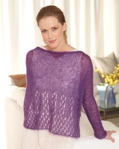 Luxe Lace Pullover Pattern (Knit)