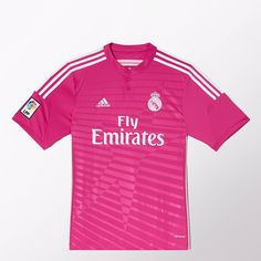 You won't overlook Real Madrid in the club's eye-catching 2014/15 away kit. All pink everything!