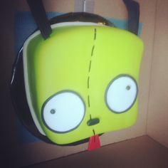 My bday cake like if u know who gir is and invader zim