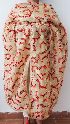 Chanderi Beige and Red Hand Embroidered Phulkari Dupatta – CraftyHandsIndia Phulkari Embroidery, Hand Embroidery Dress, Hand Embroidery Designs, Anarkali Dress Pattern, Party Wear Sarees Online, Dress Indian Style, Ethnic Outfits, Cotton Blouses, Traditional Outfits